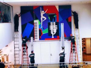 Mural hanging
