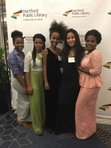 1)Apolina (2nd from the left) attended the 2019 Beyond Words Gala with her classmates and had the opportunity to hear author, Reyna Grande