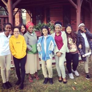 Girls at Mark Twain House